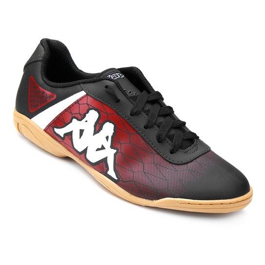 b444df4b93 Chuteira Futsal Kappa Torpedo - Preto e Vermelho - Compre Agora