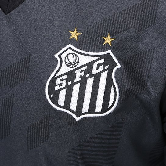 ... Camisa Polo Santos Comissão Técnica 17 18 Kappa Masculina -  Preto+Grafite ... dba132175bbc8