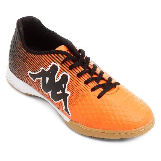 cd8593029 Chuteira Futsal Kappa Fortore - Laranja+Preto ...