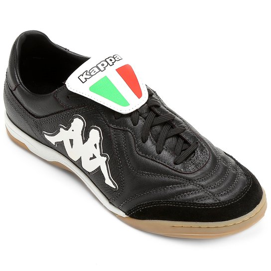 d5508f0d4f Chuteira Futsal Kappa Pelle Couro - Preto - Compre Agora