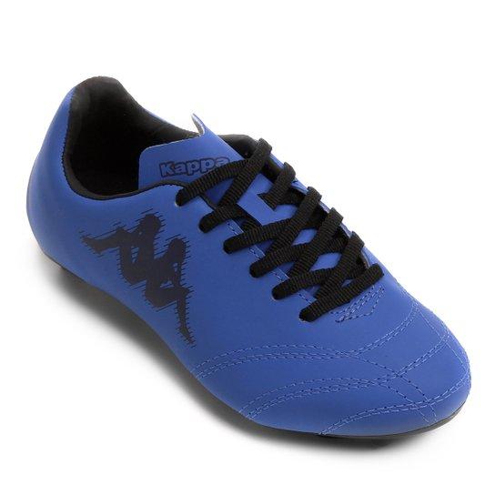 0113cf9e7c Chuteira Campo Infantil Kappa Piave - Azul e Preto - Compre Agora ...