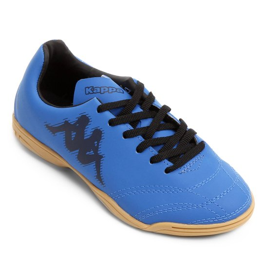 60b6de2a26 Chuteira Futsal Infantil Kappa Piave - Azul Royal+Preto ...