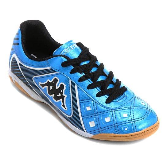 036e1fdd4c Chuteira Futsal Kappa Catanzaro - Azul+Preto ...