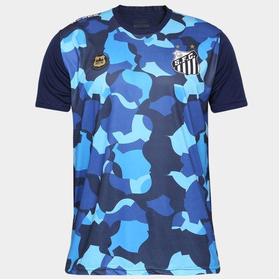 28435e169 Camiseta Santos Kappa Vila Belmiro 17 Masculina - Marinho ...