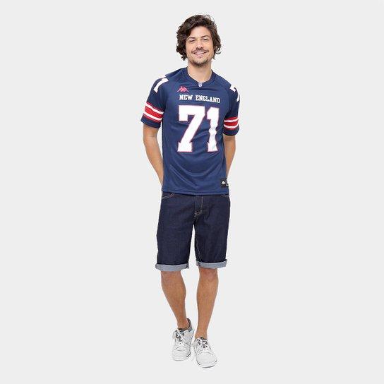 ... Camiseta New England Kappa Futebol Americano Masculina - Marinho ... a434f2d27fcec