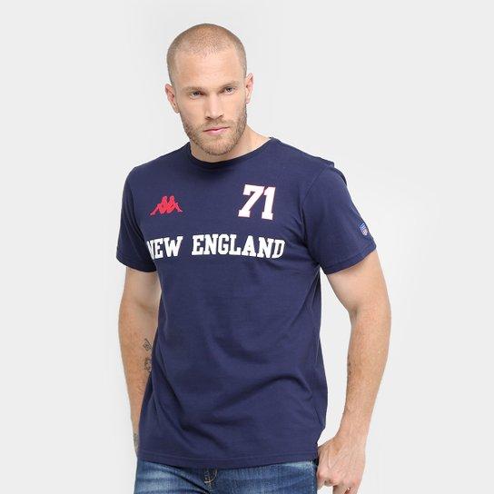 Camiseta Kappa New England Masculina - Compre Agora  cab34fa6ed228