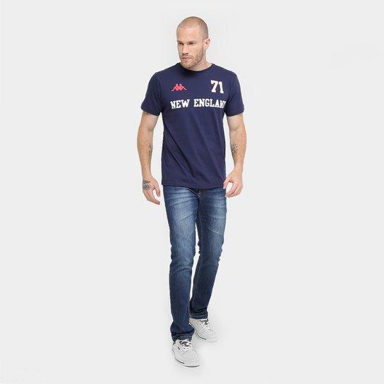 ... Camiseta Kappa New England Masculina - Marinho ... e5a0a2a55df6e
