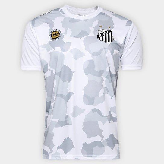 e9a26baa8 Camiseta Santos Kappa Vila Belmiro 17 Masculina - Branco ...