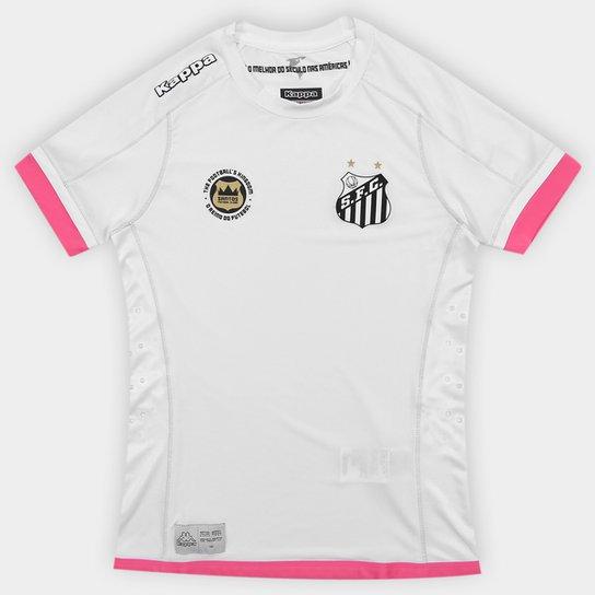 Camisa Santos Kombat I 17 18 s nº - Torcedor Kappa Feminina - Compre ... 61c5340db3e2a