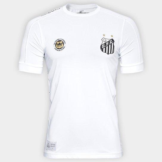 daece7cfec6 Camisa Santos Kombat I 17 18 s nº Jogador Kappa Masculina - Branco ...
