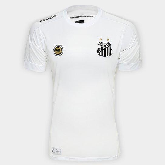 Camisa Santos I 17 18 s nº Torcedor Kappa Masculina - Branco ... 8e5d029852b1f