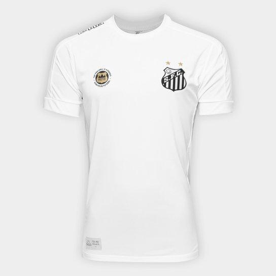 Camisa Santos I 17 18 s nº Réplica - Torcedor Kappa Masculina - Branco ... ddf60f6a3933a