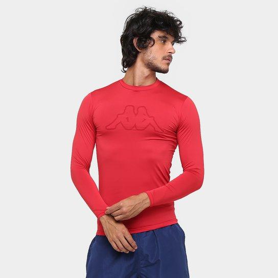 cf9e9b165d84b Camiseta Térmica Kappa Brondizio Manga Longa Masculina - Vermelho ...