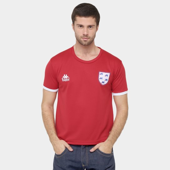 Camiseta Inglaterra Kappa Masculina - Vermelho - Compre Agora  255f5442ced19