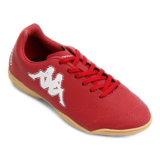 bc643e2705 Chuteira Futsal Infantil Kappa Piave - Vermelho+Branco ...