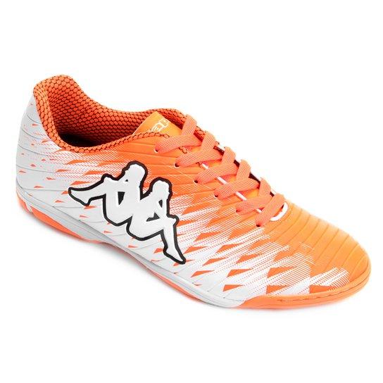 cf4396566a Chuteira Futsal Kappa Thunder - Branco+Laranja ...