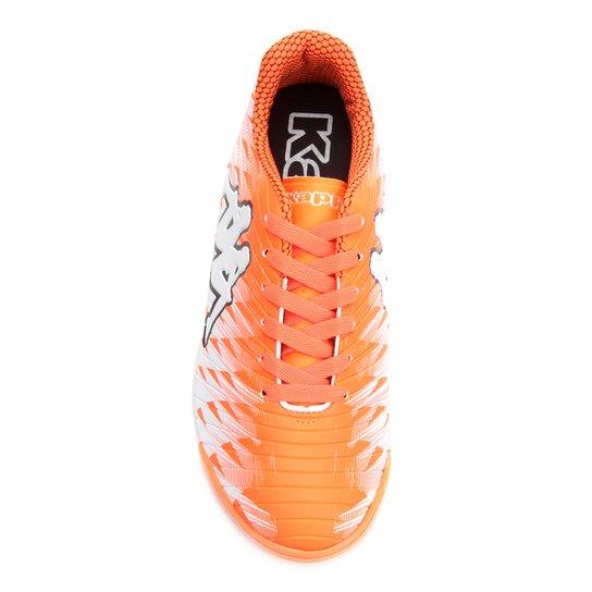... Chuteira Futsal Kappa Thunder - Branco+Laranja ... 90e175e041dc6