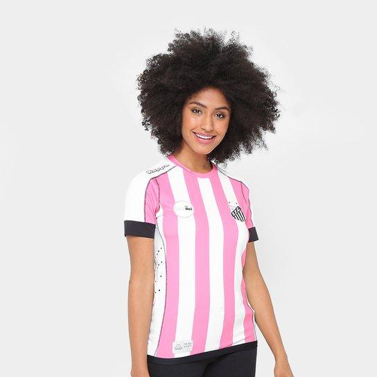 Camisa Santos II Outubro Rosa 17 18 s nº Kappa Feminina - Branco e ... 6f503cd6a6fe7