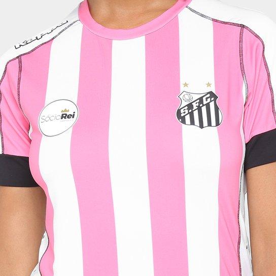 ... Camisa Santos II Outubro Rosa 17 18 s nº Kappa Feminina - Branco+ ... 1abe11adcf6a9