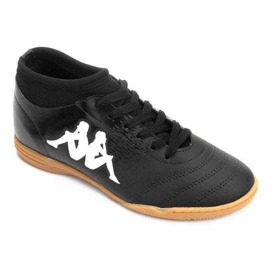 Chuteira Futsal Kappa Agility - Preto e Branco - Compre Agora  1925c5e313f2d
