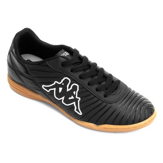 Chuteira Futsal Kappa Celerity - Preto e Branco - Compre Agora  fa1d3de112864