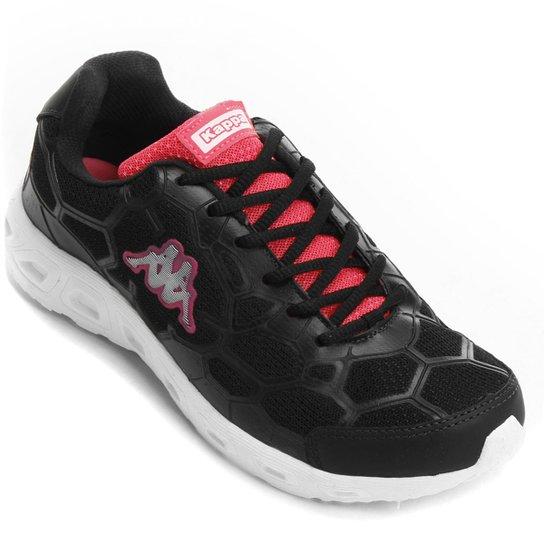 Tênis Kappa Da Vinci Feminino - Preto e Pink - Compre Agora  3422c1f2cbee9