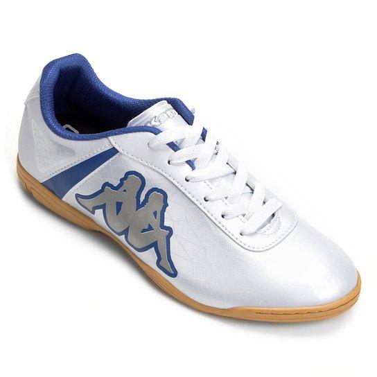 f049c2f383 Chuteira Futsal Kappa Torpedo - Branco+Azul ...