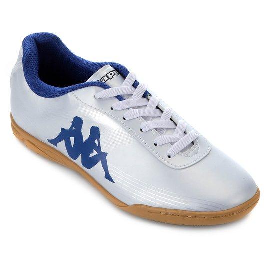 ed6f3b4fea Chuteira Futsal Kappa Fast - Branco+Azul ...