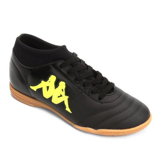 5be92c7a10 Chuteira Futsal Kappa Agility - Preto e Verde Limão - Compre Agora ...