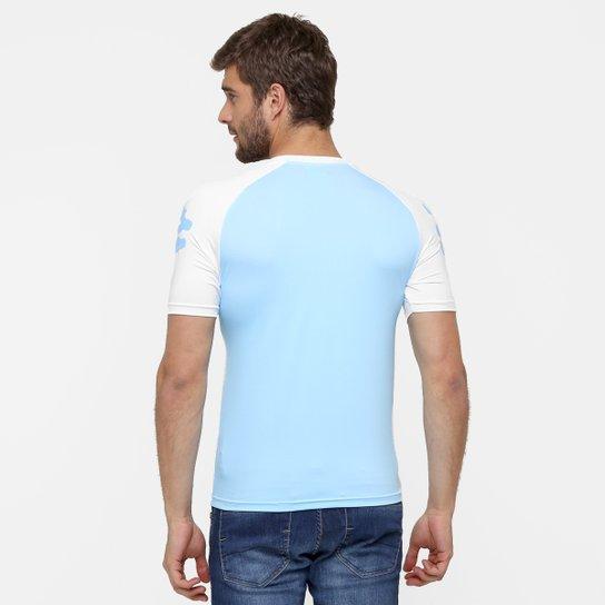 ... Camiseta Argentina Kappa Kombat Masculina - Azul Claro+Branco ... b69f643a675b2