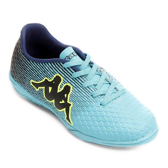 Chuteira Futsal Infantil Kappa Fortore - Azul Claro+Preto ... 9d9c43e6aed27
