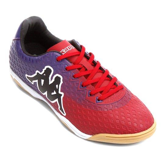 2e711f02df Chuteira Futsal Kappa Reno - Roxo e Vermelho - Compre Agora