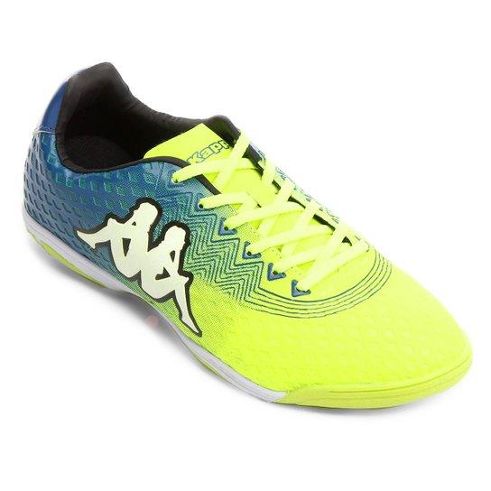 aa14f16980 Chuteira Futsal Kappa Reno - Amarelo Fluorescente e Azul - Compre ...