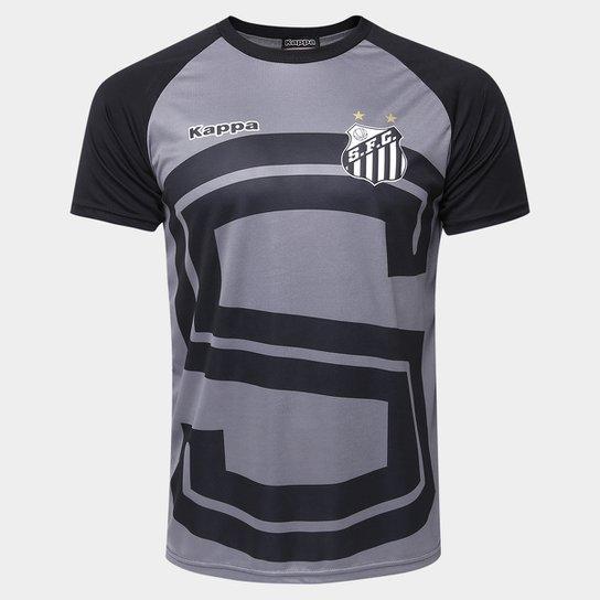 Camiseta Santos Lima 17 Masculina - Grafite+Preto ... 7d395a17c5080