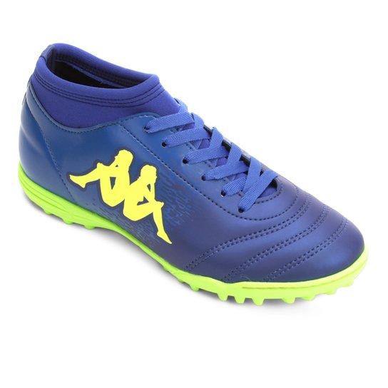 Chuteira Society Kappa Agility - Azul e Verde Limão - Compre Agora ... 3ec87492b51f9