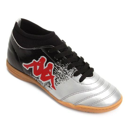 Chuteira Futsal Kappa Agility - Prata e Vermelho - Compre Agora  572a95e16edda