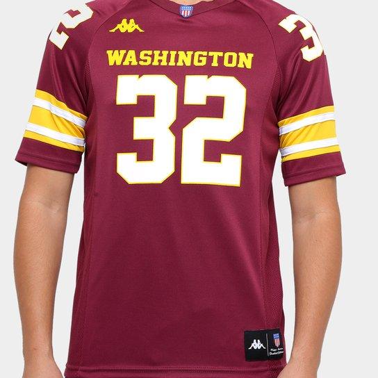 b21ebcc1508e7 Camiseta Kappa Futebol Americano Washington Masculina - Bordô ...