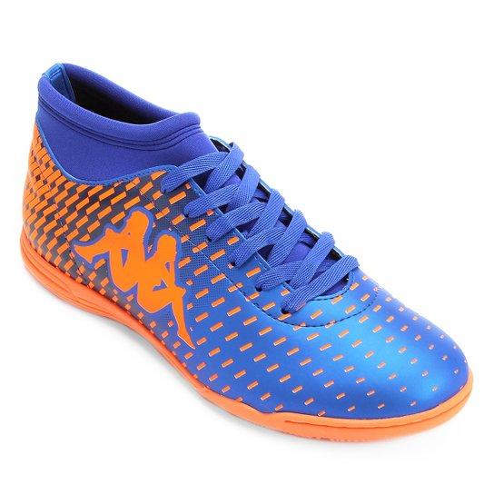 0c8e7e15e1 Chuteira Futsal Kappa Matera - Azul+Laranja ...