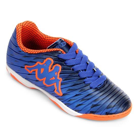 106fffa3f0 Chuteira Futsal Infantil Kappa Thunder - Azul+Laranja ...