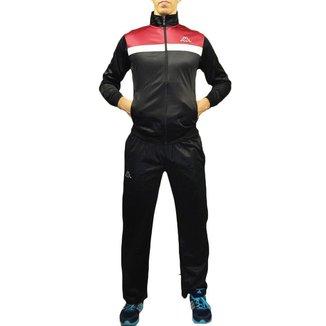 Agasalho Masculino Kappa Sportswear Jones Elanca Preto
