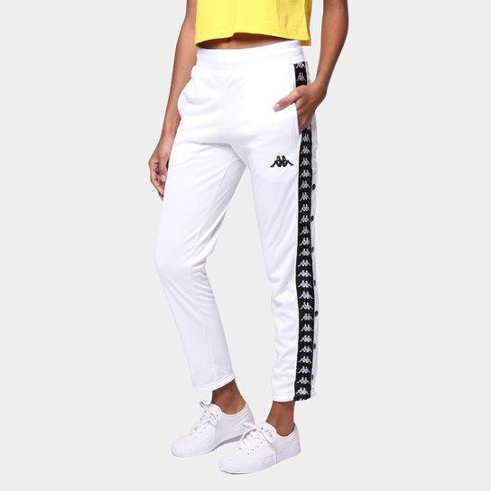 Calça Kappa Plic Plac Due Due Feminina - Branco+Preto