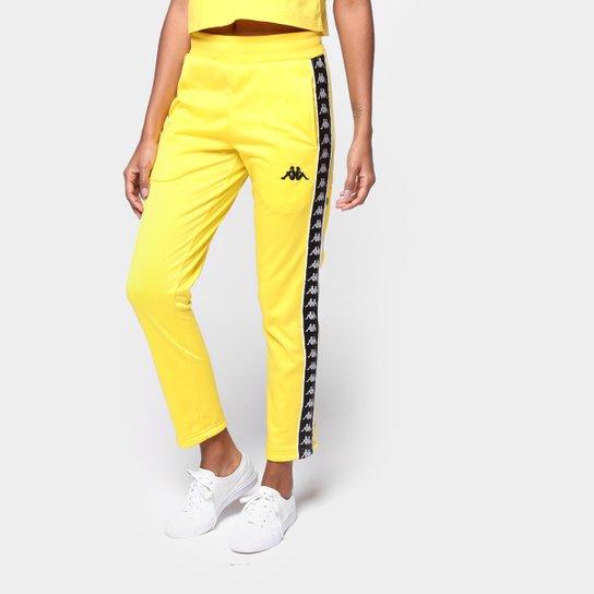Calça Kappa Plic Plac Due Due Feminina - Amarelo