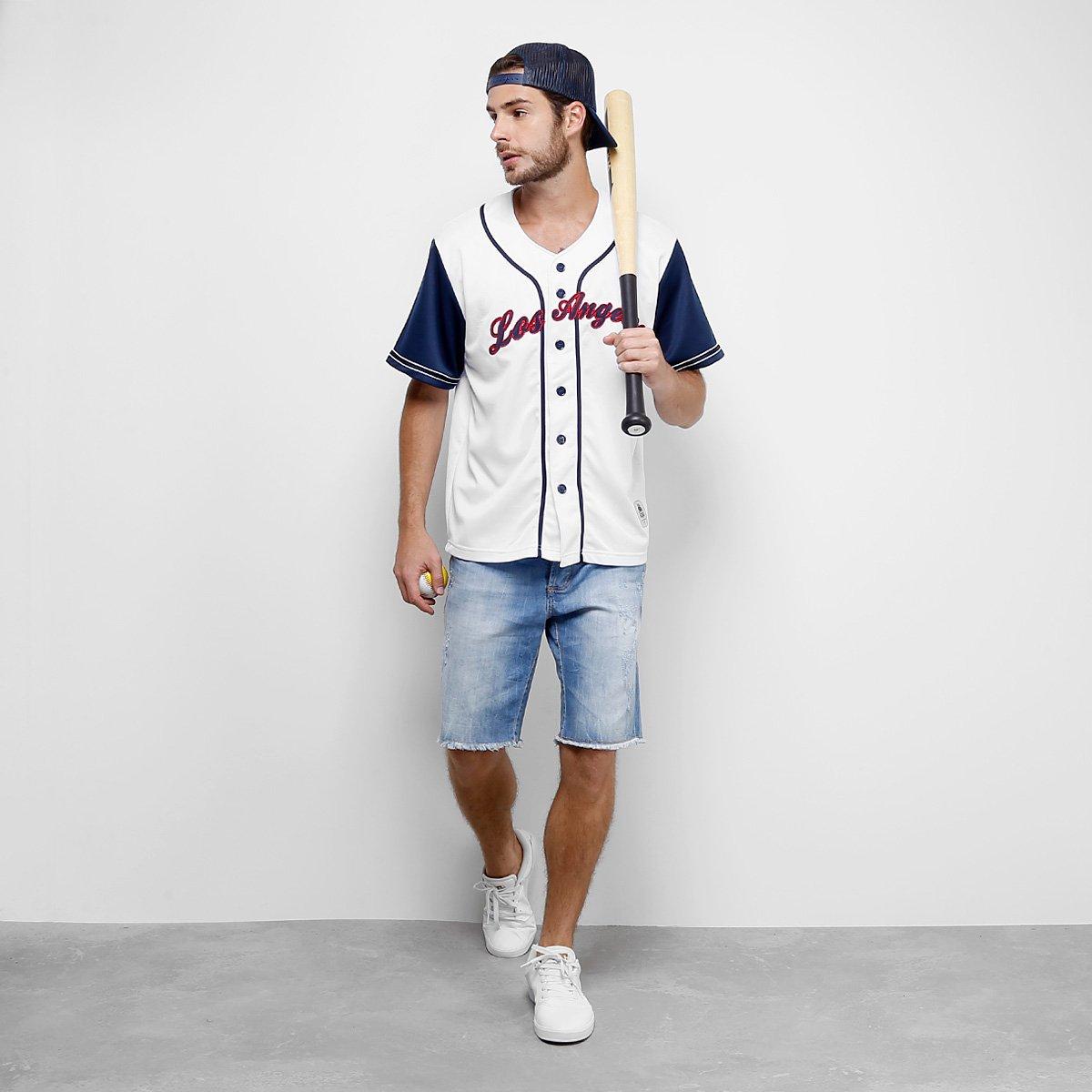 6e7f69a66 Camisa Baseball Kappa Los Angeles 17 Masculina - Compre Agora