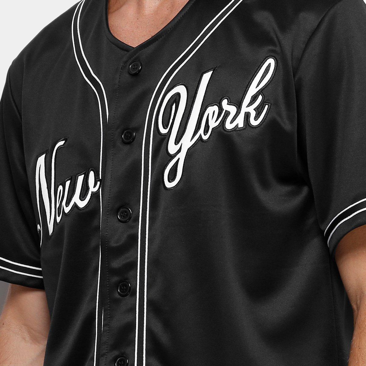 61bbb8823e Camisa Baseball Kappa New York Raglan 17 Masculina - Preto - Compre ...