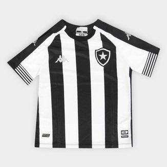 Camisa Botafogo Juvenil I 20/21 s/n° Torcedor Kappa