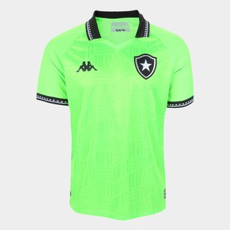 Camisa de Goleiro Botafogo II 21/22 s/n° Torcedor Kappa Masculina