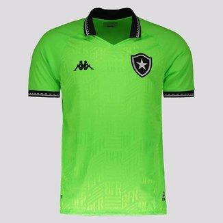 Camisa Kappa Botafogo Kombat Away II Goalkeeper 2021 Masculina - Verde