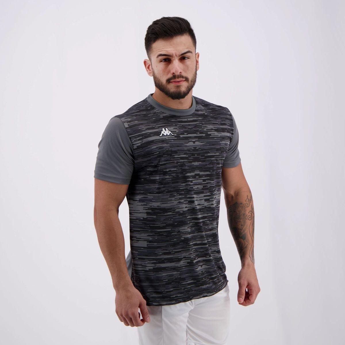 68fc3b1288 Camisa Kappa Jenner Masculina - Chumbo - Compre Agora