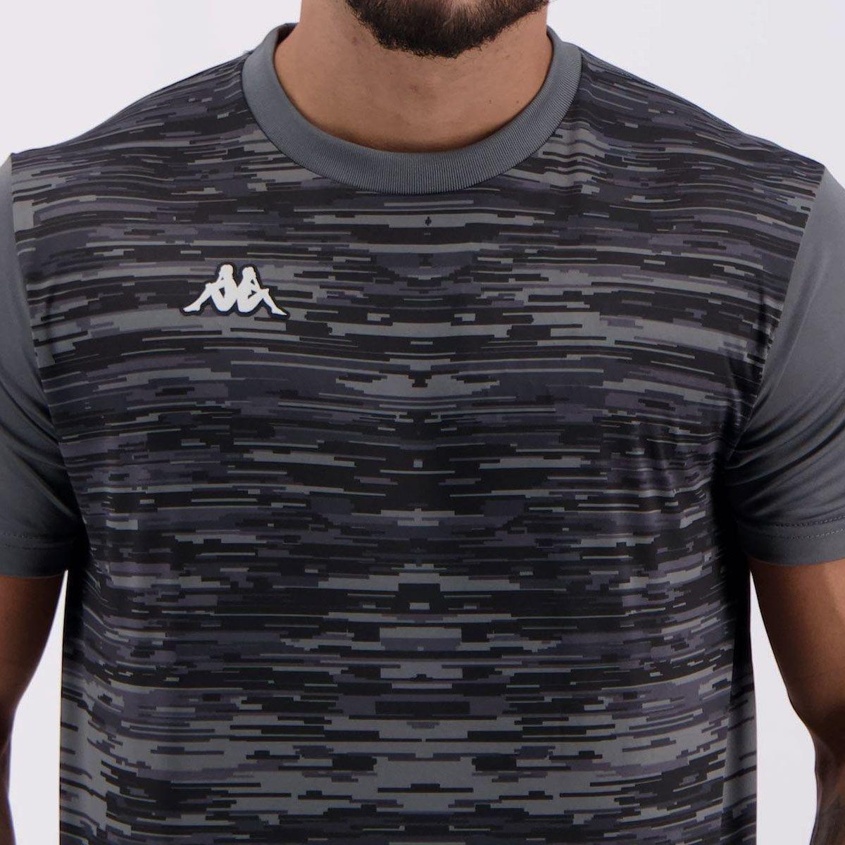 Camisa Kappa Jenner Masculina - Chumbo - Compre Agora  0bd4c79465740