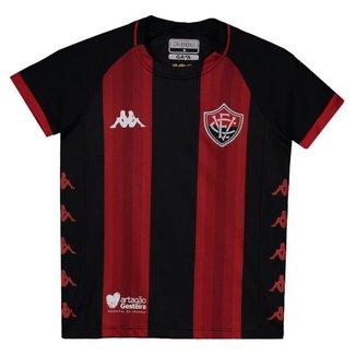 Camisa Kappa Vitória I 2019 Juvenil